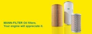 Mann Oil filter Banner