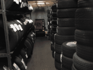 Secure & Dry Tire Storage